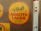 VINTAGE AUSTRALIAN BEER LABEL. CARLTON & UNITED - ABBOTS LAGER 750ML 58AL