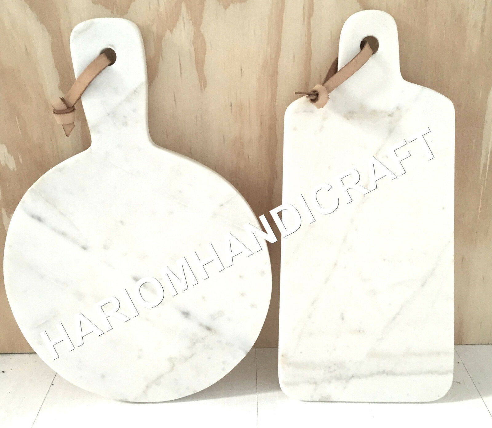 9 x14  Set Of Two blanc Marble Chopping Boards Precious Handcrafted Decor E695