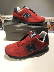New-Balance-574-Red-Blue-Navy-Us574xad-Mens-SIZE-7-5-12-Made-In-USA