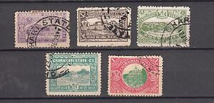 CHARKHARI-Indian-state-5-Different-Stamps