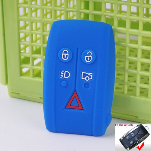 Blue Silicone key cover case For Jaguar XK XF XJ8 XK8 XRR Skin Holder Protector
