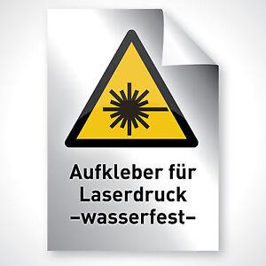 100x Argent Autocollant Motif Pression Deco Pression Film Imprimer Din A4 Imprimante Laser-afficher Le Titre D'origine Qualité SupéRieure (En)