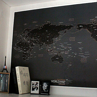 World Map Black World Map Draw your Dreams around the World