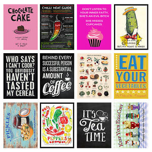 quirky 2 Retro Metal Signs//Plaques Cool Novelty Gift Kitchen