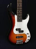 Caraya Electric Precision Bass Guitar Sunburst 4-string w/Free gig bag,D-Tuner