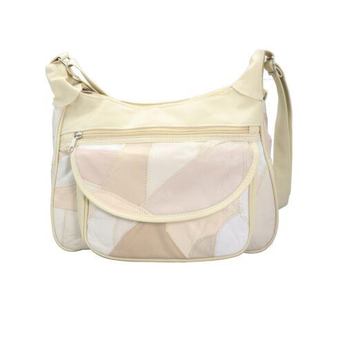 Ladies Women Girls Shoulder Tote Side Bag Work Bag Stiches Designer Faux Leather