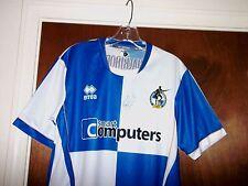 Bristol Rovers FC Soccer Football Jersey SIGNED Shirt Futbol Vtg England Mens S