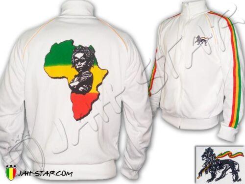 Rasta Jacke Jacket Reggae Rasta Africa Baby Freedom  Schwarz//Weiß