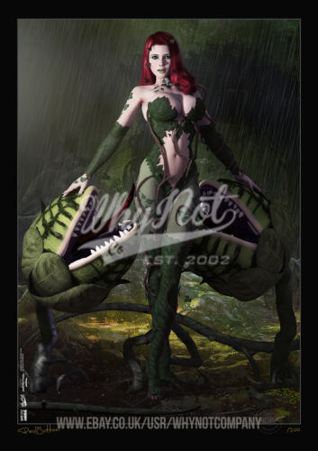 Dark City Comic Art Print Series 200 Limited Edition Print Poison Ivy Gotham