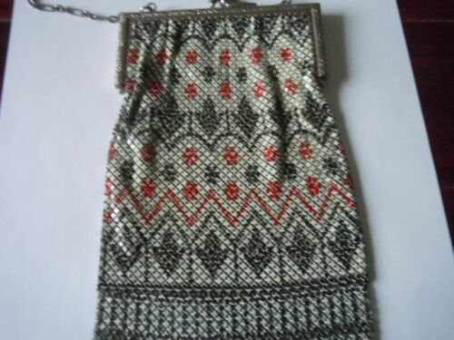 Vintage enamel mesh Mandalian purse