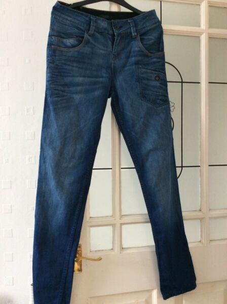 (ref#7) Firetrap Jeans 26 Poll. Gamba 32 Pollici Firm In Structure