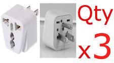 3PK European EU To US American Adapter Plug Converter Euro Asia to USA