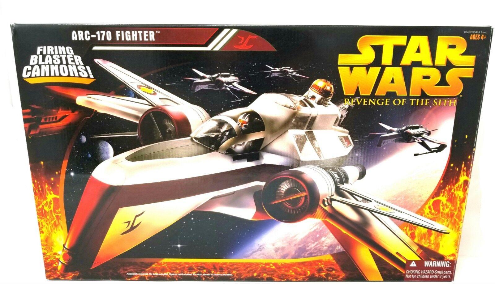La venganza de los Sith ARC-170 Fighter Nave Estrella Wars La Venganza De Los Sith disparando cañones  nunca quitado de la caja