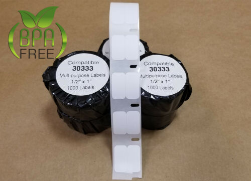 1000 Labels 4 Rolls Compatible w Dymo Printers 30333 Address Multi Labeling