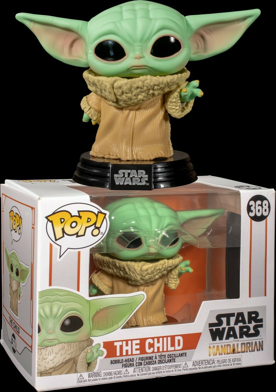 StarWars collection : STAR WARS: THE MANDALORIAN - L'ENFANT (BABY YODA) POP! FIGURINE