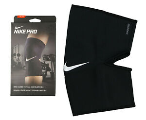 6c684e509e NIKE Pro Closed Patella Knee Sleeve 2.0 sz XL X-Large Black White ...