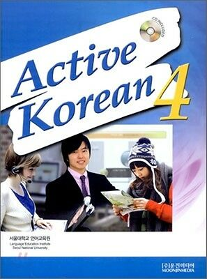 Active Korean 4 Korean Language Book w/ Audio CD Seoul SNU Free Ship