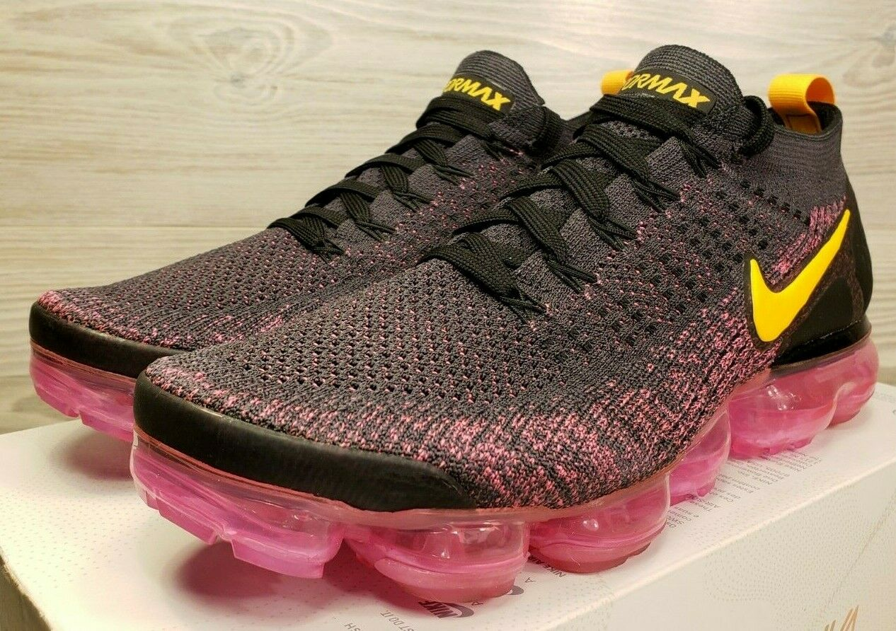 best sneakers 4a93f 5c099 Nike Air VaporMax Flyknit 2 Gridiron Laser orange orange orange Pink  Running 942842 008 Size 9