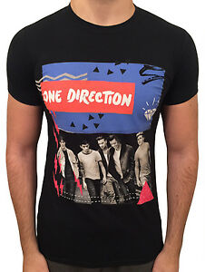 ONE-DIRECTION-T-Shirt-Black-Where-We-Are-Tour-Top-LOUIS-ZAYN-LIAM-HARRY-NIALL