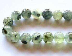 40pcs-10mm-Round-Natural-Gemstone-Beads-Prehnite