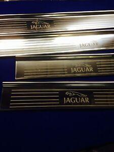 JAGUAR-Mk2-Juego-de-4-inoxidable-JAGUAR-diseno-Placas-Grabado-Lujo