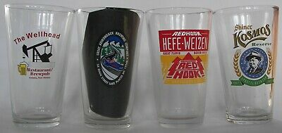 National micro beer brewery pint glasses pick 4 of 12 your choice