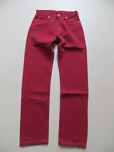 Levi-039-s-501-Damen-Jeans-Hose-W-29-L-32-ROT-RED-coloured-OLDSCHOOL-Denim