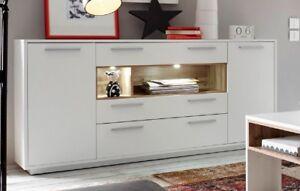MILANO Sideboard Anrichte Kommode Wohnzimmer Weiß / Wildeiche   eBay