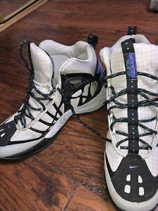 RARE-Nike-ACG-Air-Tallac-Lite-Grey-Black-Grid-Hiking-Shoes-324842-US-MEN-039-S-10