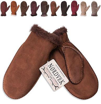 Nordvek Ladies Premium Real Sheepskin Mittens Gloves Mitts Womens 320-100