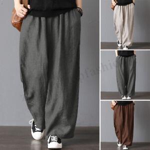 9c6d00d78e8 ZANZEA Womens Oversize Harem Pants Wide Legs Casual Pants Elastic ...