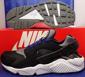 5dfb0246dfd1 Womens Nike Air Huarache Run Prime Fleece iD Black Blue White SZ 7 ...