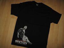 Dwayne Johnson Snitch Tee - The Rock Wrestler 2013 Action Movie Promo T Shirt Lg