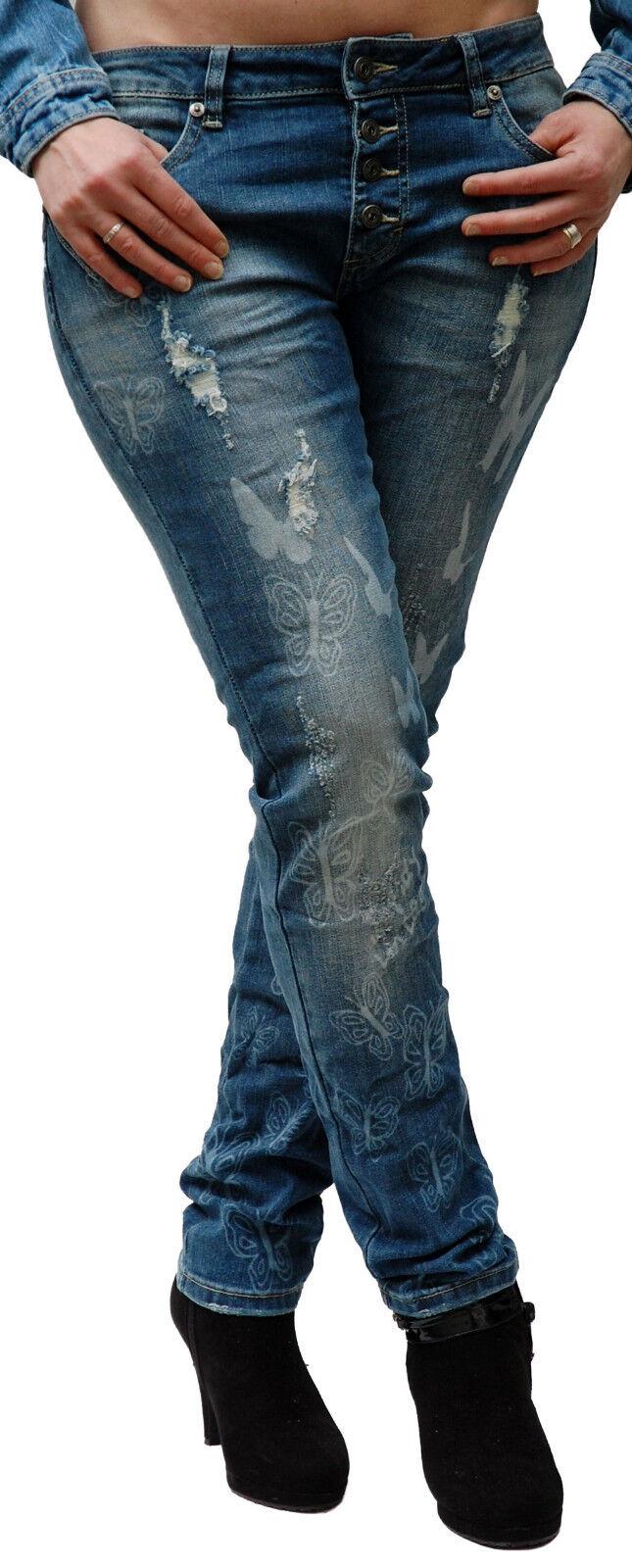Blau Monkey Jeans, Damen, Alexis , BM-1266, BM-1266, BM-1266, Butterfly, 50%rotuziert | Genialität  | Die Qualität Und Die Verbraucher Zunächst  | Verschiedene  930f67