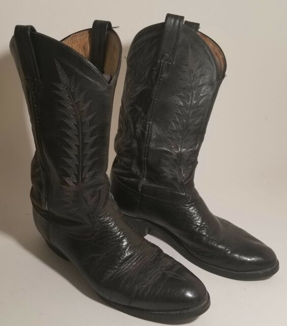 bc0874804e8a8 Tony Lama Vintage Cowboy Boots Black Leather Men s Size 12