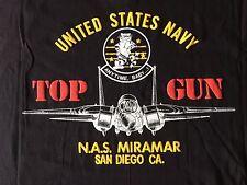 VTG. 90's TOP GUN F-14 TOMCAT FIGHTER JET US NAVY MIRAMAR N.A.S. SD CA T-SHIRT-L