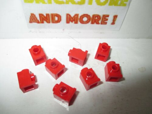 Lego 8x Brique Brick modified 1x1 headlight trou 4070 red//rouge//rot