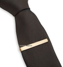 Mens Boys 4CM Gold Tie Bar Stainless Steel Skinny Standard Slim Clip Clasp Pin