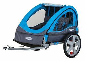 Instep Bike Trailer for Kids, Single and Double Seat Blue