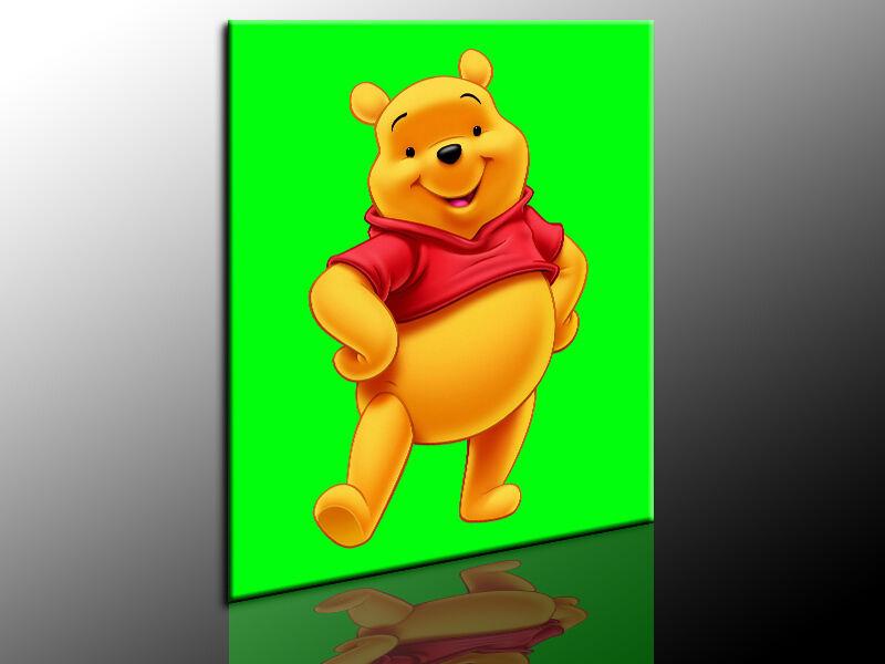 Bild Winnie Pooh Puuh Leinwandbild, Fotoleinwand24, Wandbild, Keilrahmenbild, 63
