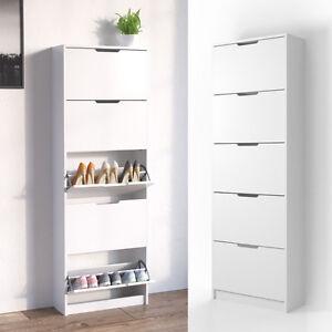 scarpiera scaffale per scarpe armadietto per scarpe mobiletto scarpiera 5 vani ebay. Black Bedroom Furniture Sets. Home Design Ideas