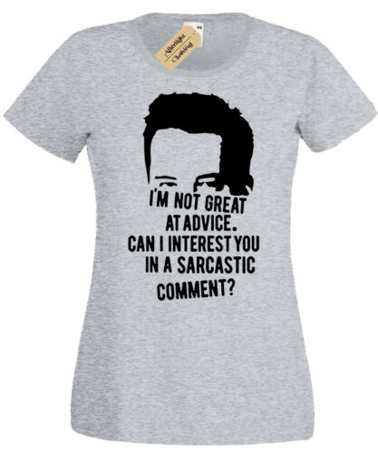 CHANDLER Not great at advice Womens T-Shirt Friends sarcasm sarcastic ladies