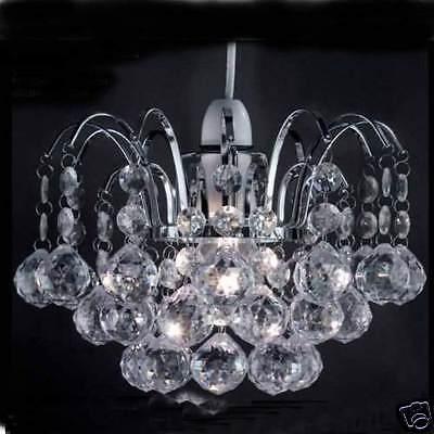 Chandelier Style Modern Ceiling Pendant Light Shade Acrylic Crystal Droplet Bead