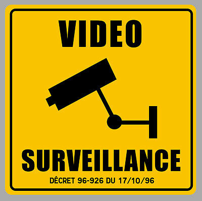 Badges, Insignes, Mascottes Video Surveillance Camera Protection 9cm Autocollant Sticker Va093 Agreeable Sweetness Auto, Moto – Pièces, Accessoires