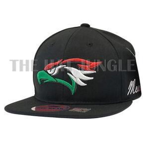 Hecho En Mexico Snapback Hat Mexican Aguila Eagle Flat Bill Baseball ... 534e67af09a