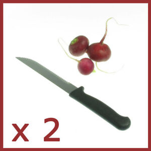 x-2-Steak-knives-Plastic-Handle-Knife-Stainless-Steel-cutlery-knifes-Kitchen
