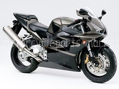 Motorcycle Black /& Silver Painted Fairing Kit for 2002 2003 Honda CBR 954 RR ABS Injection Molding
