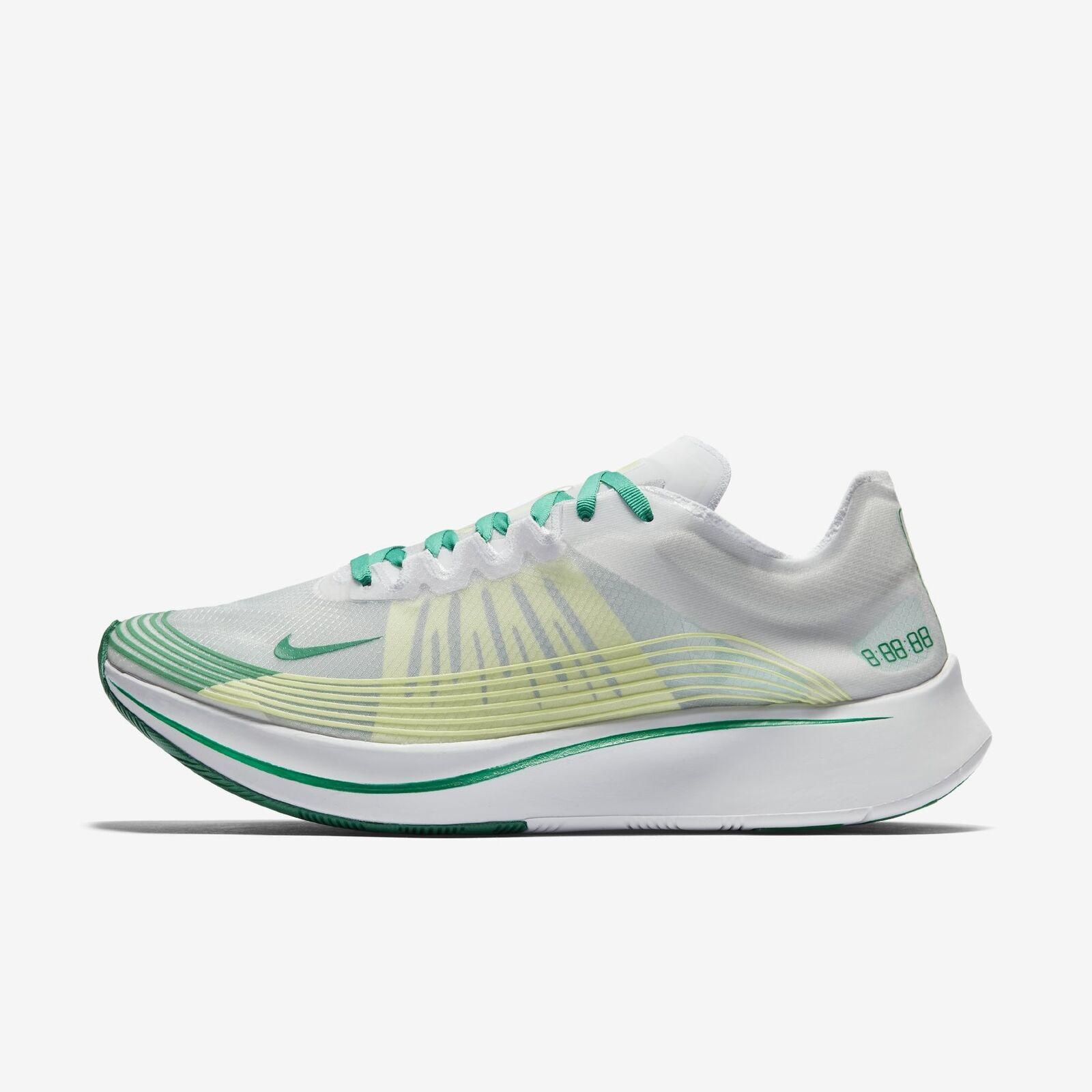 Men's NikeLab Zoom Fly Running shoes White Lucid Green Size 13 AJ9282 101 NIB