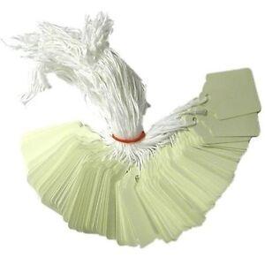 1000 X 21mm X 6mm Blanc Cordée String Des Balises De Swing Prix Des Billets à Nouer Sur Les étiquettes-afficher Le Titre D'origine