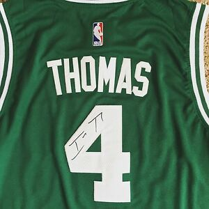 reputable site f5a8e 6db4b Details about Isaiah Thomas Signed Autograph Boston Celtics Jersey NBA PROOF